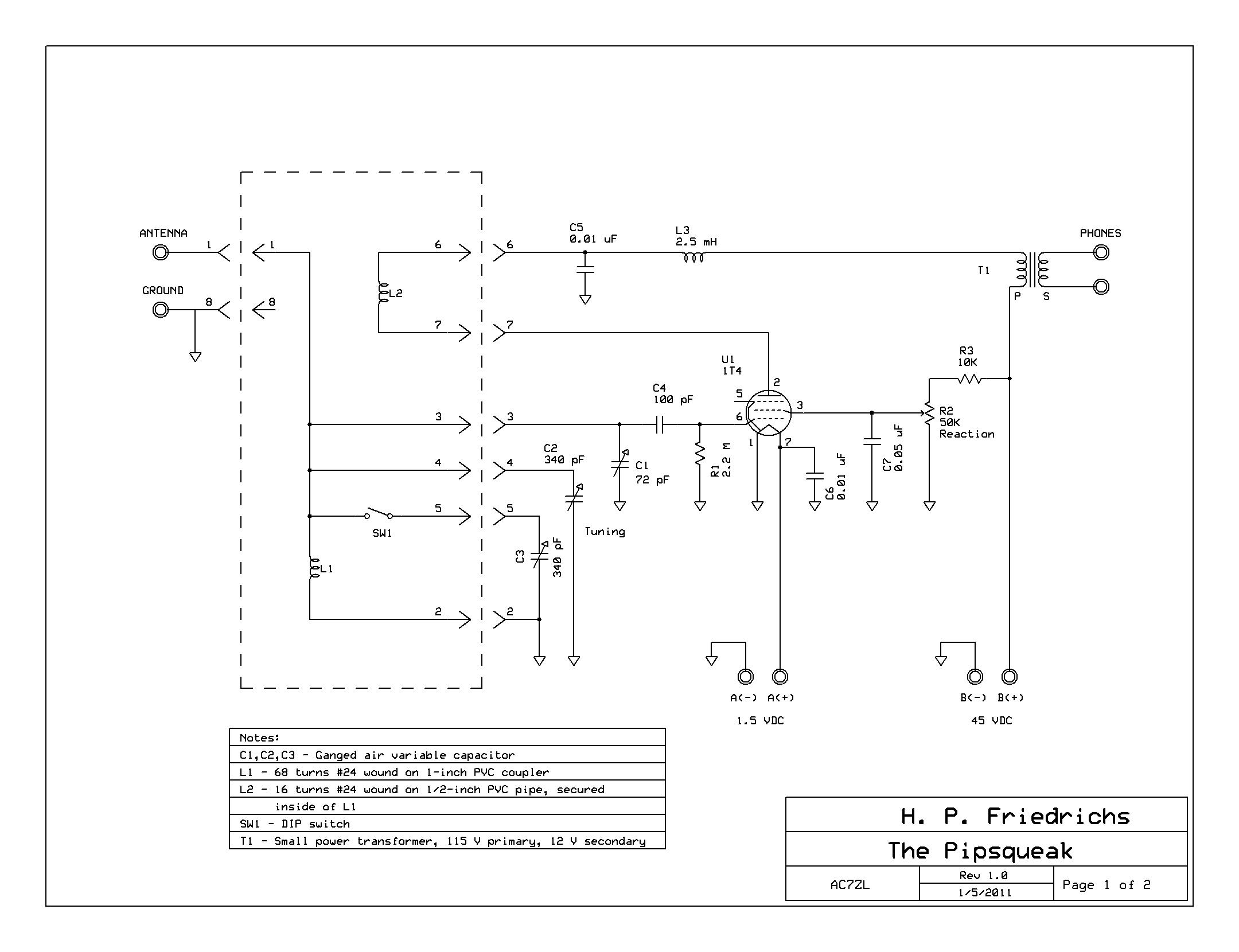 The Hp Friedrichs Ac7zl Homepage Antenna Circuit Diagram Pipsqueak Schematic Click On Image For Better Resolution
