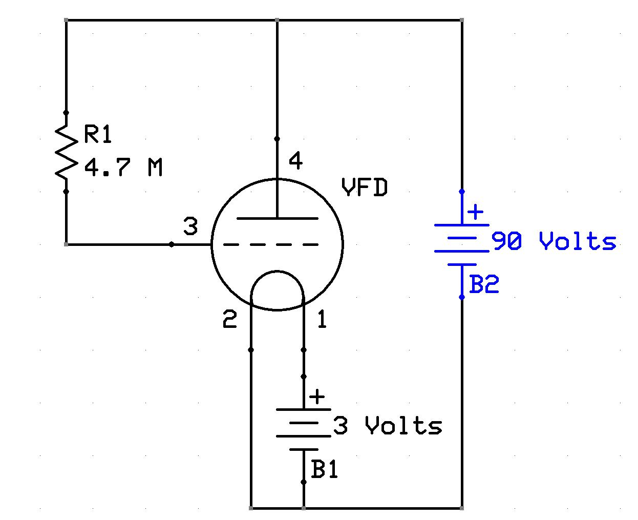 vacuum fluorescent alphanumeric display test circuit